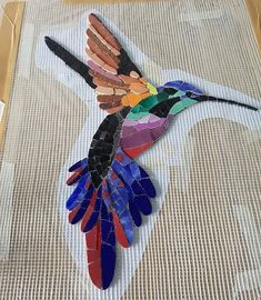 LONG HANGY THING - by Cellardweller, I happen to like that long hangy thing, great for Xmas decoration on the front door, oh I'm good. Mosaic Tile Art, Mosaic Pots, Mosaic Artwork, Mosaic Diy, Mosaic Garden, Mosaic Crafts, Mosaic Projects, Mosaic Glass, Mosaics