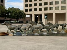 Mustangs at Las Colinas is a bronze sculpture by Robert Glen, that decorates Williams Square in Las Colinas in Irving, Texas. It is said to be the largest equestrian sculpture in the world.