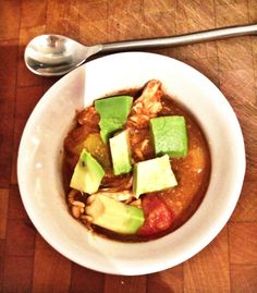 pumpkin chicken chili #glutenfree #paleo