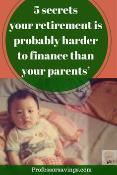 Retirement: Why Your Parents Had It Easier Than You Will #retire #finance SAVE MONEY NOW>> http://professorsavings.com/retirement-why-your-parents-had-it-easier-than-you-will/?utm_content=buffer17c0a&utm_medium=social&utm_source=pinterest.com&utm_campaign=buffer