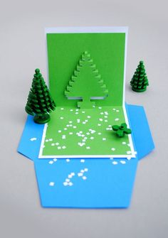 Christmas pixel popup cards
