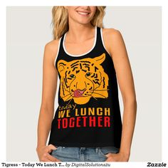 Tigress - Today We Lunch Together Dark Tank Top
