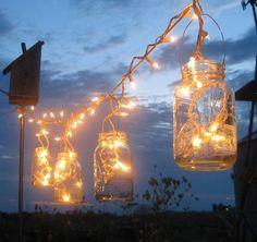 mason jar christmas light decoration