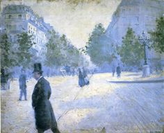 Place Saint Augustin, Misty Weather by Gustave Caillebotte