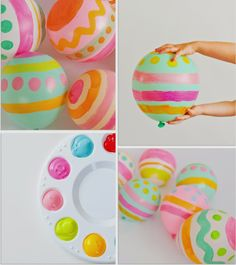 Hand Painted Easter Egg Balloons | Shop Sweet Lulu Blog ...are these the cutest things ever?!
