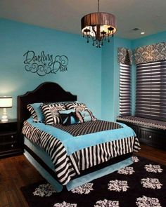 Amazing magnificent teen bedroom wall decor ideas and best teen room decor images on home design . unique large size of bedroom decorating girls Blue Bedroom Walls, Bedroom Decor For Teen Girls, Teen Girl Rooms, Teenage Girl Bedrooms, Teenage Room, Blue Walls, White Bedroom, Bedroom Colors, Master Bedroom