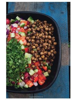 Spiced Chickpeas and Fresh Vegetable Salad from: Jerusalem: A Cookbook by Yotam Ottolenghi, Sami Tamimi