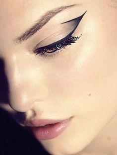 Dramatic cat eyes: Jonas Jensen for Elle Denmark 2013 #eyeliner #makeup #dramatic