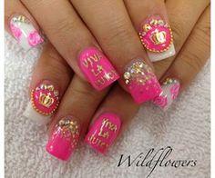 <3 juicy couture fake nails i want them they are sooooooo.......peng<3