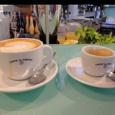 My bella @Danielle Lampert Jones gets to enjoy proper Cappuccino & espresso • Lanciano, Italy #livinginitaly