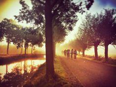 Wielrenners in Coelhorst. Prachtige ochtend om te sporten Zelf aan het hardlopen #hoogland #amersfoort #runwithiphone #run #running #bike #biking