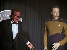 Joe Piscopo played a holographic comedian trying to teach Data about comedy in the Star Trek: TNG episode The Outrageous Okona.
