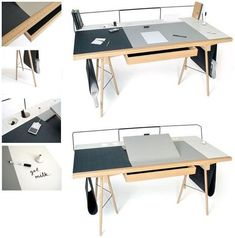 We all personalize our work tables somewhat.  But what if we can actually customize the damn thing?  That's the idea behind Homework, a nifty work desk that you can lay out in a wide variety of ways.