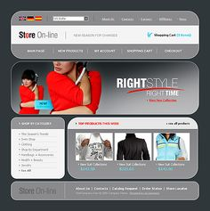 Online Shop SWiSH Templates by Lovely
