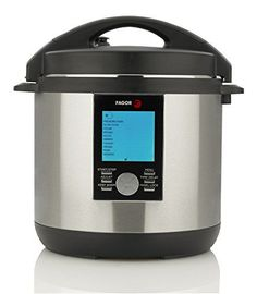 Fagor LUX LCD Multi-Cooker, 8 Quart - Digital Pressure Cooker, Slow Cooker, Rice Cooker and Yogurt Maker with 33 Cooking Programs - Stainless Steel - 935010063.