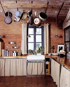 kitchen cabinet curtains - Google Search