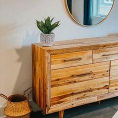 Alexa Reclaimed Wood 7-Drawer Dresser - Honey Reclaimed Wood Dresser, Air Conditioning Units, 7 Drawer Dresser, Hope Chest, Metal Working, Natural Wood, Storage Chest, Honey, Rustic