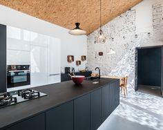 Billeder og indretningsidéer til osb paneling køkken