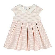 J by Jasper Conran - Designer babies white spotted collar dress