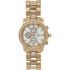 Gold tone diamante bracelet watch £30.00