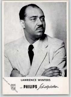 Lawrence Winters Berlin, Opera Singers, Performing Arts, Visual Arts, American Singers, Classical Music, Black Men, The Voice, Theatre