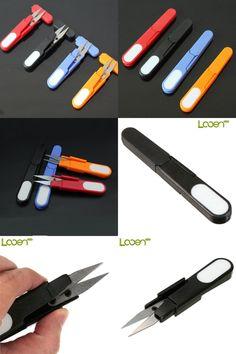 [Visit to Buy] Looen 1pcs U Shape Cross Stitch Scissors DIY Portable Lid Safety Plastic Handle Yarn Scissors Embroidery Tailors Sewing Supplies #Advertisement