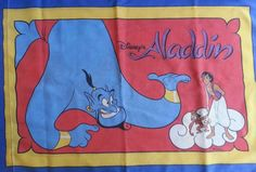 Disney Aladdin Genie Abu Vintage Standard  Pillow Case Craft Fabric Material