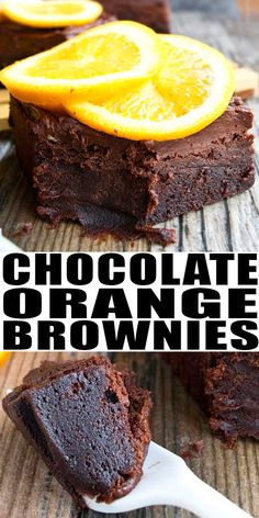 CHOCOLATE ORANGE BROWNIES RECIPE with chocolate frosting-  Quick, easy, rich, fudgy, made from scratch with simple ingredients. From CakeWhiz.com #chocolate #brownies #orange #oranges #dessert #dessertrecipes #baking #summer