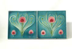 Pair of Art Nouveau Tiles – T&R Boote - 1890-1903