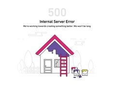Recently I did 500-Internal server error page illustration with our new brand colors.   Press L to show some love ♡   Follow the Housing team