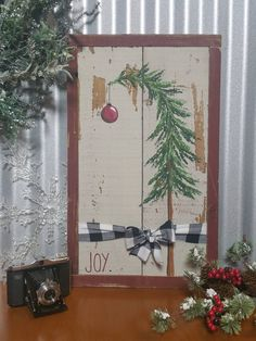 Christmas Ideas Made From Wood Christmas Movies July Pallet Wood Christmas Tree, Christmas Wood Crafts, Primitive Christmas, Plaid Christmas, Christmas Signs, Christmas Tree Decorations, Rustic Christmas, Christmas Art, Handmade Christmas