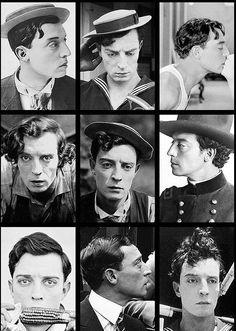 Buster Keaton (hair appreciation pin!)