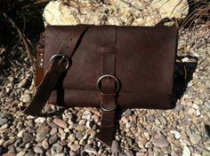 Love ths bag!  hand made leather messenger bag/mens by longshotleather on Etsy, $285.00