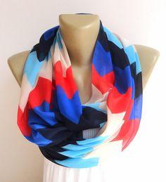 chevron american flag color scarf ,infinity scarf women scarf scarve scarf summer scarf chiffon scarf on Etsy, $18.90