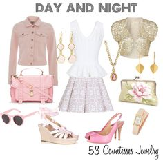 """""""Day and Night Pink version"""" by countess-flower on Polyvore"""