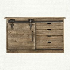 Handcrafted in Ohio by Amish craftsmen. The door and hardware is inspired by historic barns found all over the state. The Higgins Sideboard. Arhaus