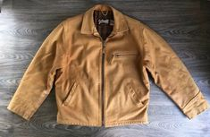 e40526bde639a Schott Leather Jacket 146 NYC Thick Cowhide Motorcycle 1996-1997 USA Size  44 | eBay