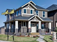 Traditional Contemporary Style Home, Exterior View, Model Home