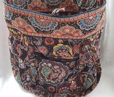 Vera Bradley Kensington Grand Bucket Tote Purse Handbag Retired Shoulder bag #VeraBradley #ToggleTote