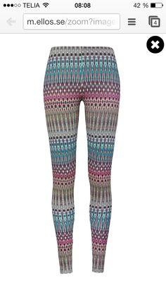 Massor av mönstrade leggings från ellos!
