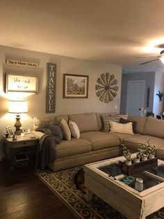 In Love With This Modern Farmhouse Living Room Living Room