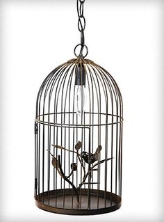 Birdcage Pendant Light Chandelier by poteidia