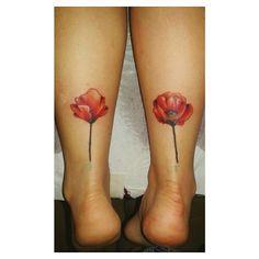 """"""" #poppiestattoo #tattoo #poppy #poppies #flowers #flower #redflower #mywork #instatattoo #nofilter #ladytattooer """""""