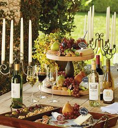 Repurpose your favorite wine bottle into an elegant candelabrum.