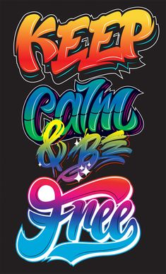 A Collection Of Cool And Colorful Typography Designs You'll Love Kirill Richert Typografie Design Alphabet Graffiti, Graffiti Lettering Fonts, Lettering Design, Typography Quotes, Graffiti Drawing, Street Art Graffiti, Letras Abcd, Graffiti Designs, Graffiti Wallpaper