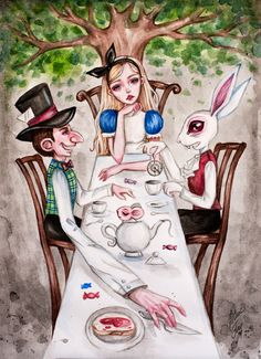 Mad Tea Party by BlackFurya on DeviantArt