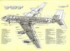 Boeing 707 cutaway drawing