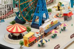 Coney Island boardwalk made from paper by Japanese artist Yumiko Matsui (Brooklyn, NYC)