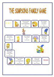 English worksheet: The Simpson Family Game