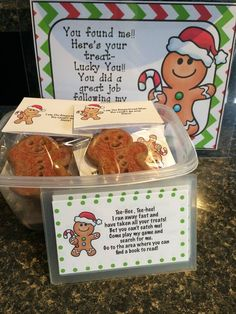 I like the last line. Lucky you! You did a great job following my clues! Preschool Christmas, Christmas Activities, Christmas Themes, Holiday Themes, Winter Activities, Holiday Ideas, Christmas Crafts, Gingerbread Man Activities, Gingerbread Decorations